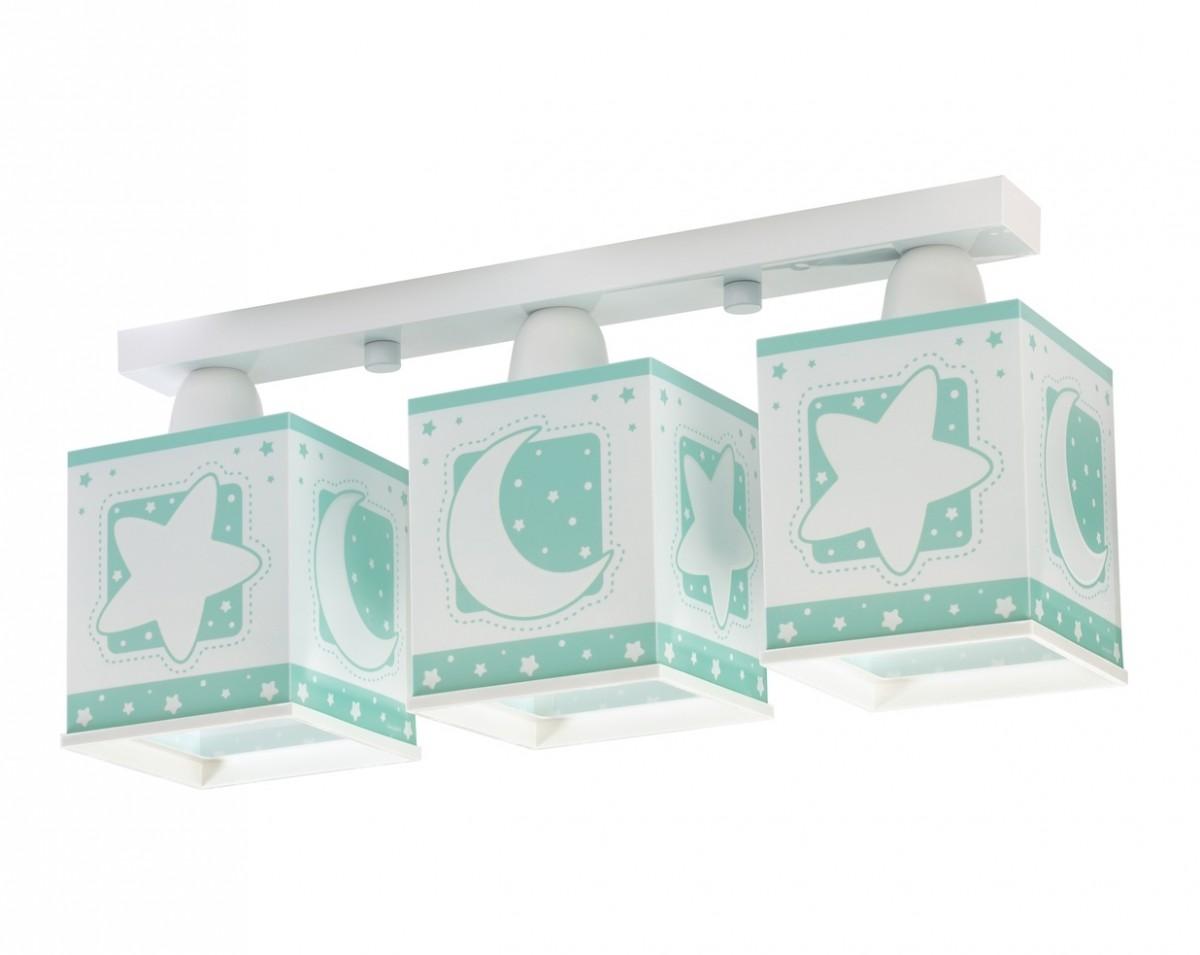 Dalber D63233H dětské stropní svítidlo Moon Green 3x60W E27 - zelené