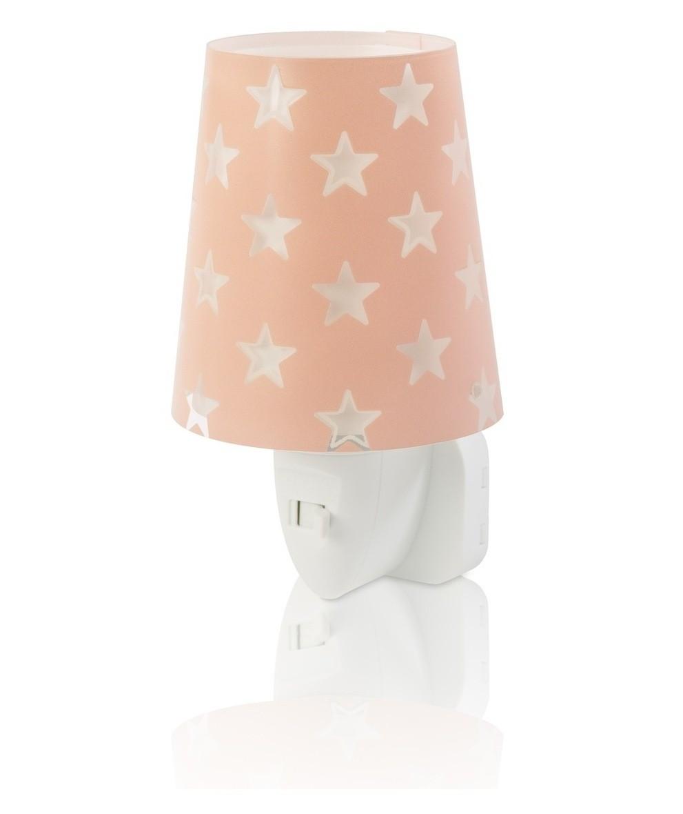 Dalber 81215S LED dětská noční orientační lampička Stars Pink 1x0,3W|E14 - růžová