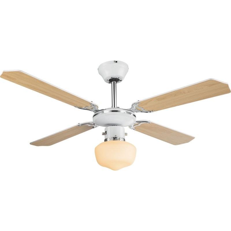 Globo 03300 stropní svítidlo s ventilátorem Sargantana 1x60W | E27 - s tahovým vypínačem /řetízkem/