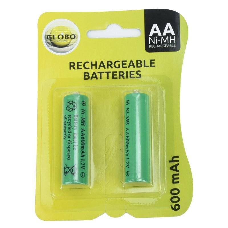 Globo 3300-2E dobíjecí baterie AA do solárních svítidel - Ni-Mh 1,2V, AA 600 mAh, 2 ks v balení
