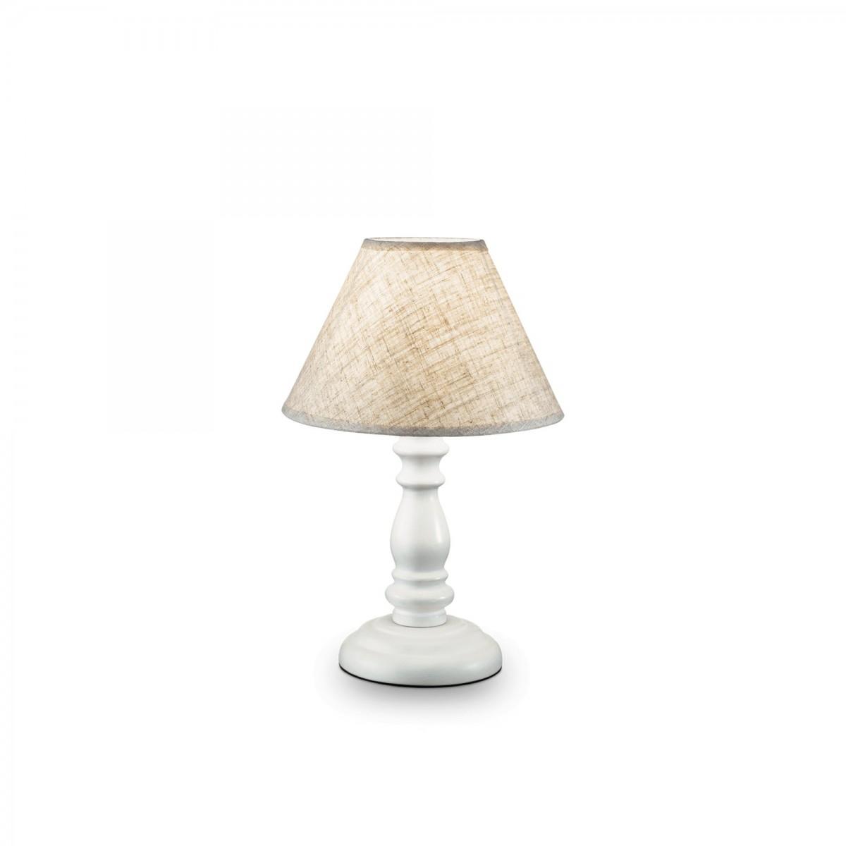 stolní lampa Ideal lux Provence 003283 SP1 Small 1x40W E14 - bílá/krémová