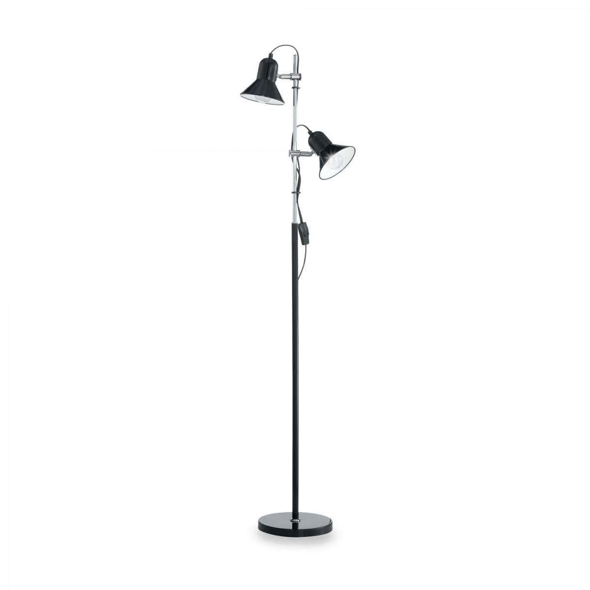 stojací lampa Ideal lux Polly PT2 061139 2x60W E27 - černá