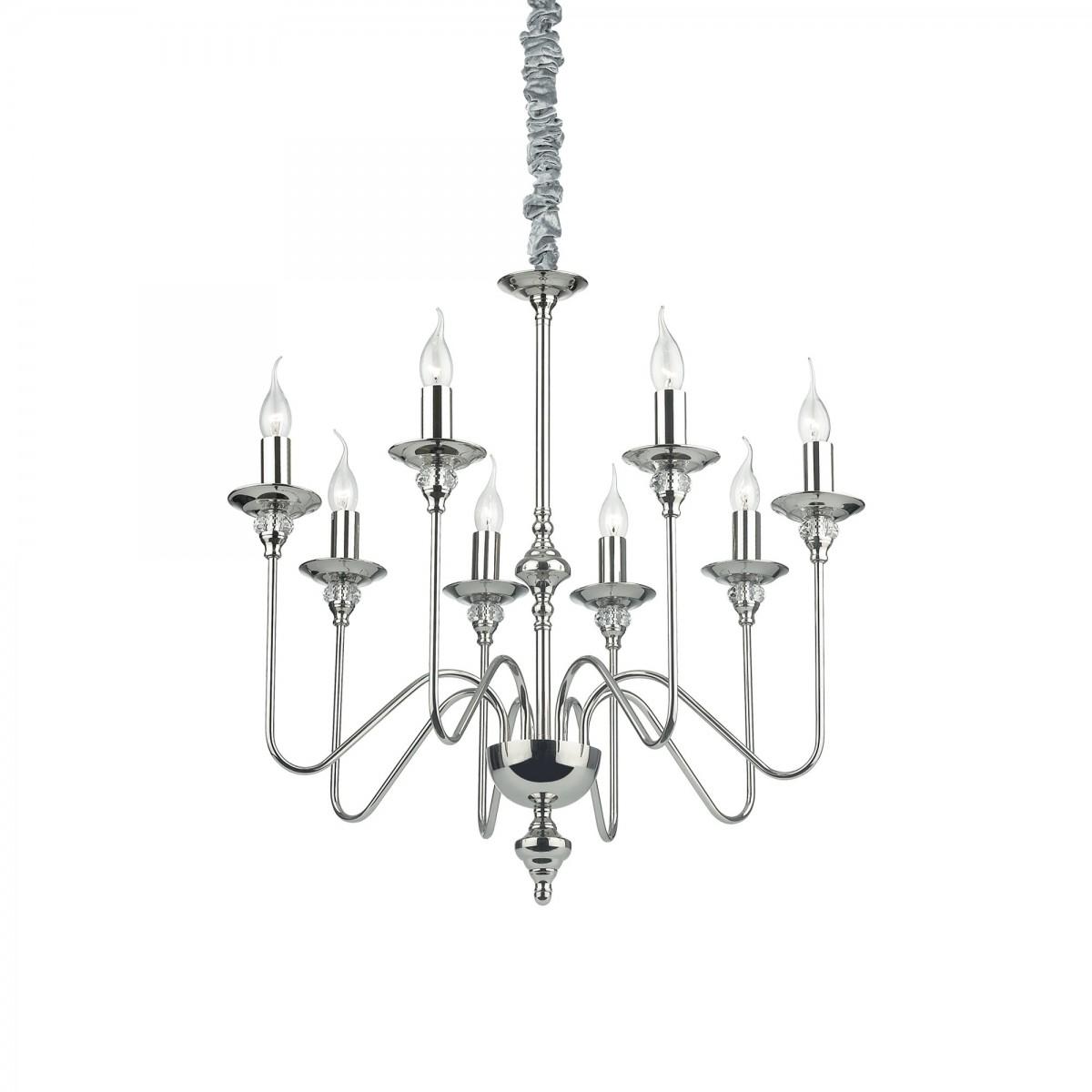 závěsné svítidlo Ideal lux Artu SP8 073156 8x40W E14 - luxusní historie