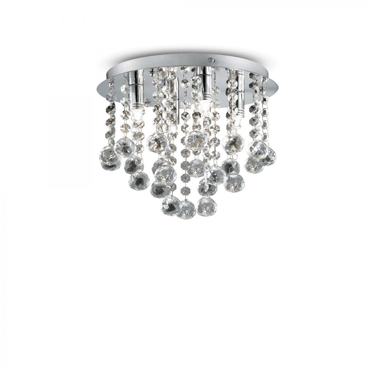 přisazené stropní svítidlo Ideal lux Bijoux PL4 089478 4x40W G9 - šperk domova