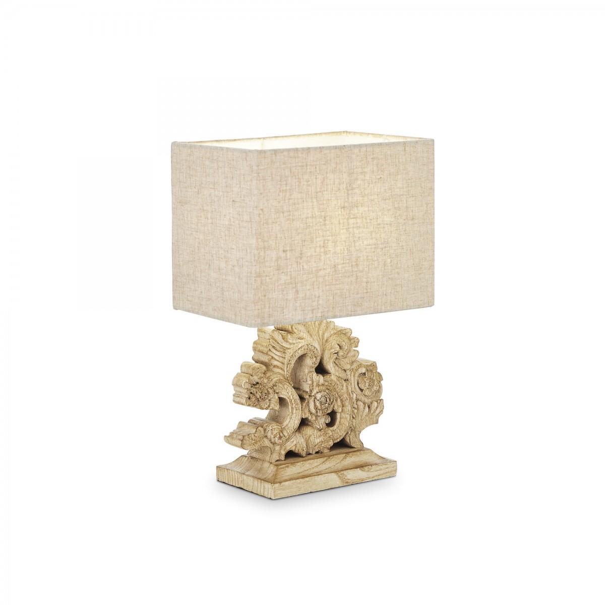 stolní lampa Ideal lux Peter TL1 094021 1x40W E14 - stylové komplexní osvětlení