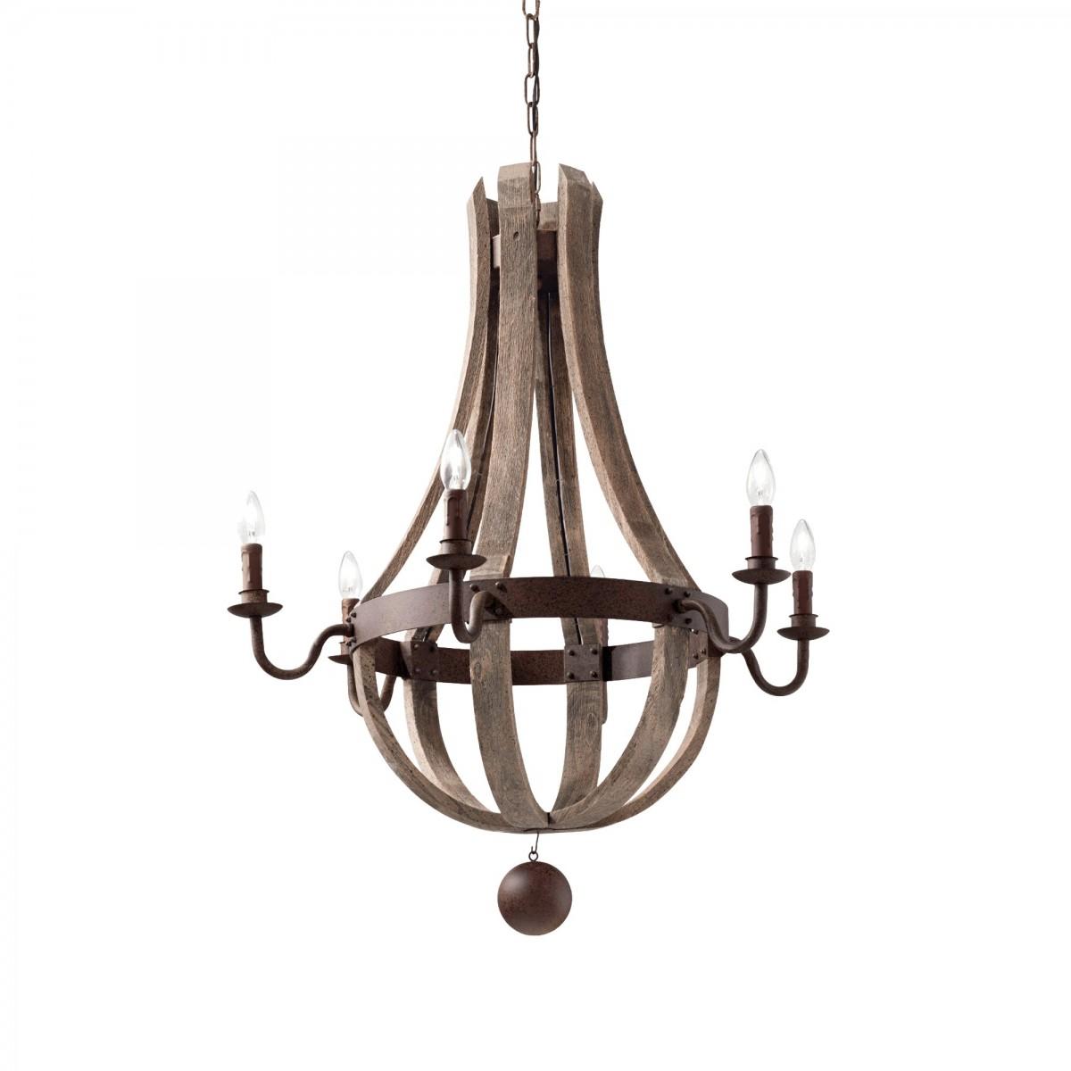 závěsný lustr Ideal Lux Millennium SP6 129693 6x40W E14 - monumentální osvětlení