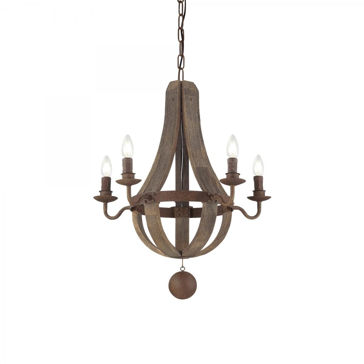 závěsný lustr Ideal Lux Millennium SP5 129921 5x40W E14 - monumentální osvětlení