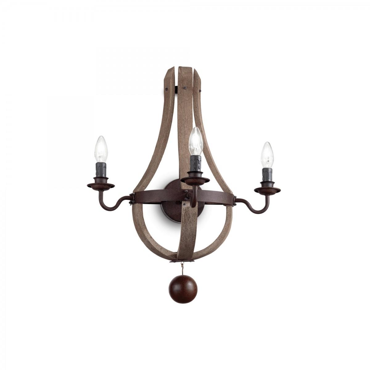 nástěnné svítidlo Ideal Lux Millennium AP3 136875 3x40W E14 - monumentální osvětlení