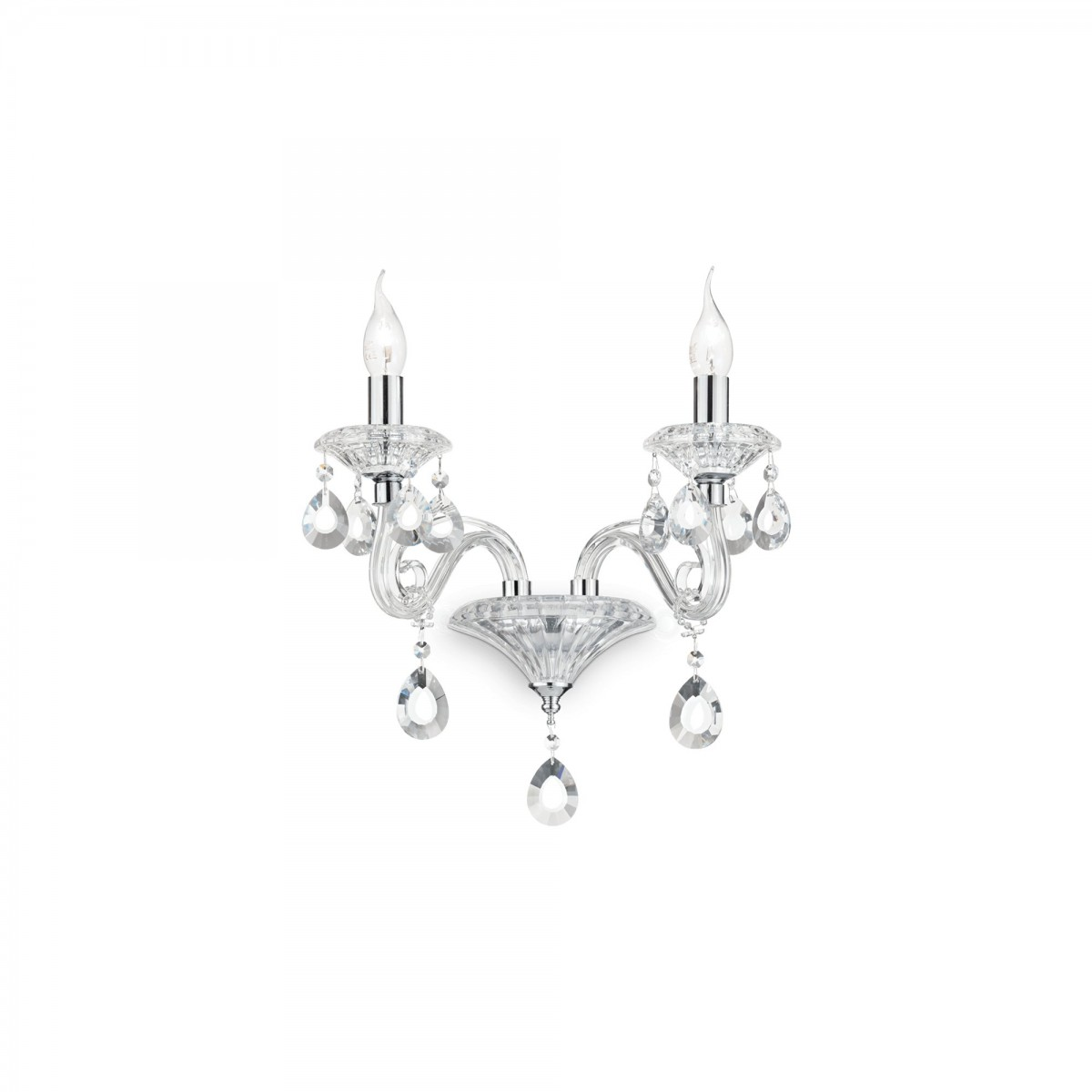 nástěnné svítidlo Ideal lux Negresco AP2 141046 2x40W E14 - dekorativní luxus