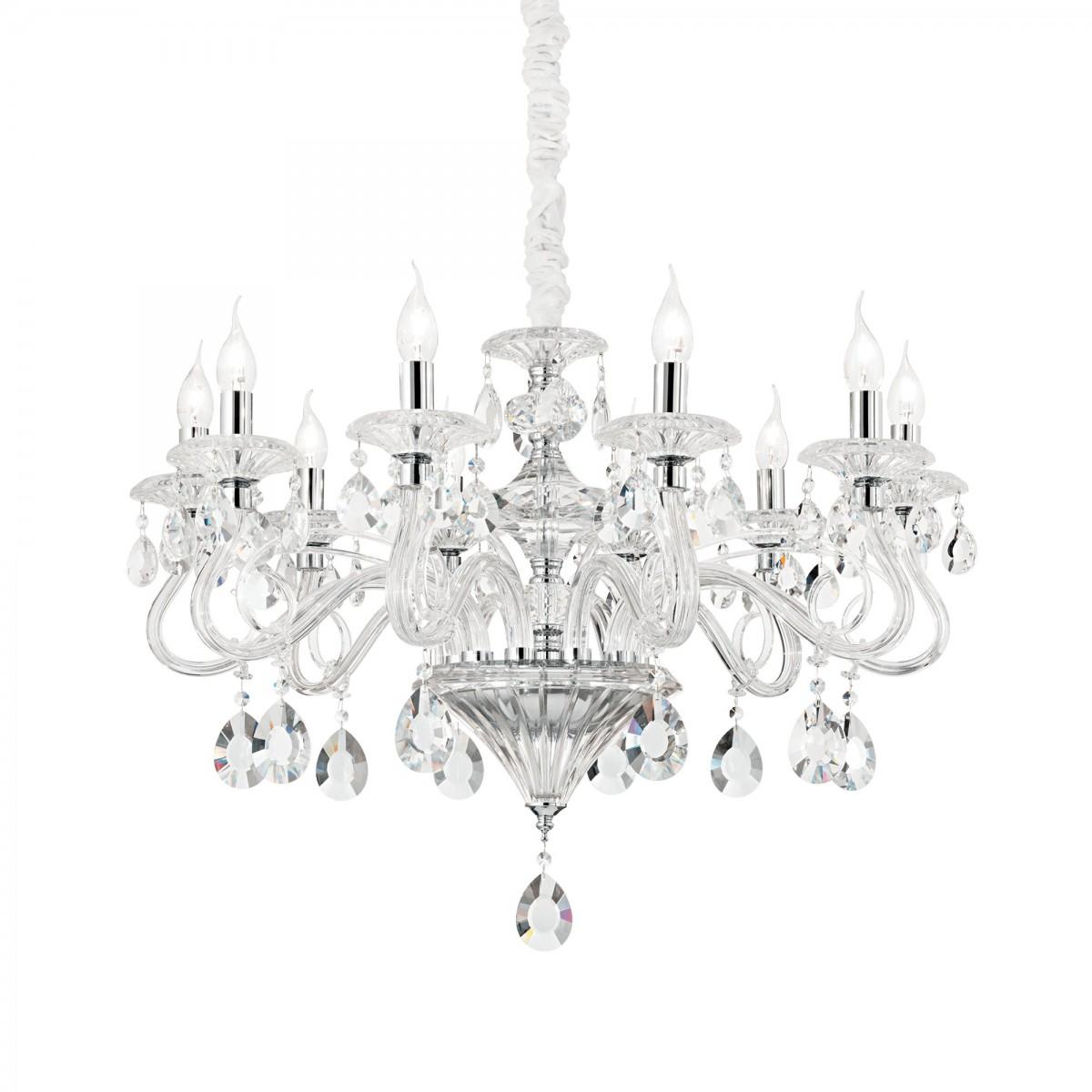 závěsné svítidlo lustr Ideal lux Negresco SP10 141060 10x40W E14 - dekorativní luxus