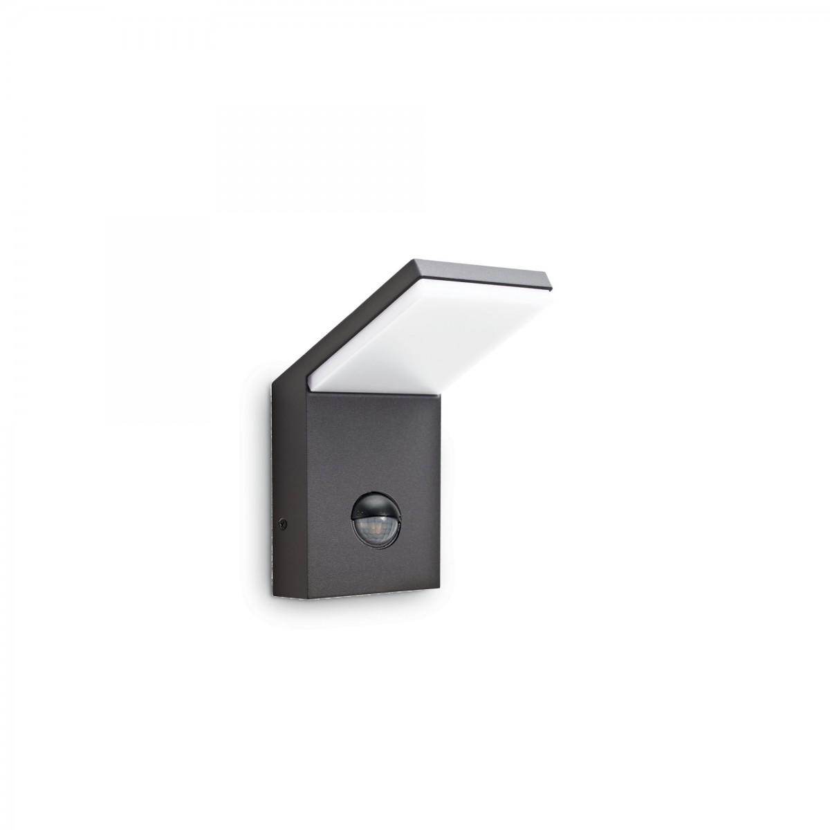 Ideal Lux 221519 LED venkovní nástěnné svítidlo s pohybovým čidlem Style 1x5W|4000K|IP54