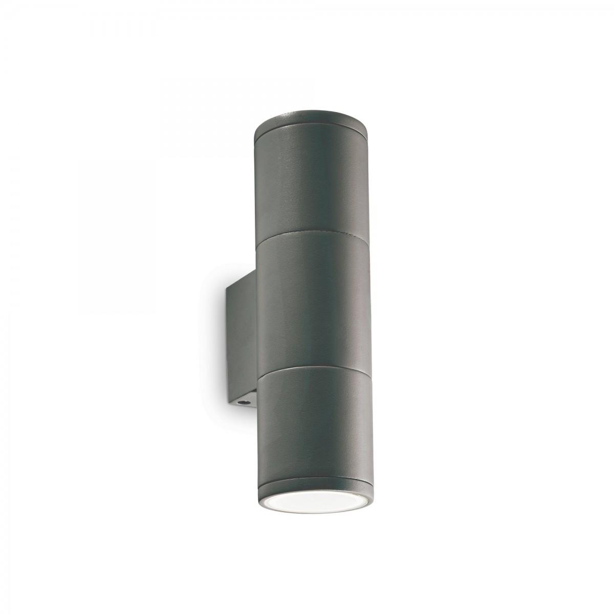 Ideal Lux 236841 venkovní bodová nástěnná lampa Gun 2x35W | GU10 | IP44 - antracit IdealLux 236841