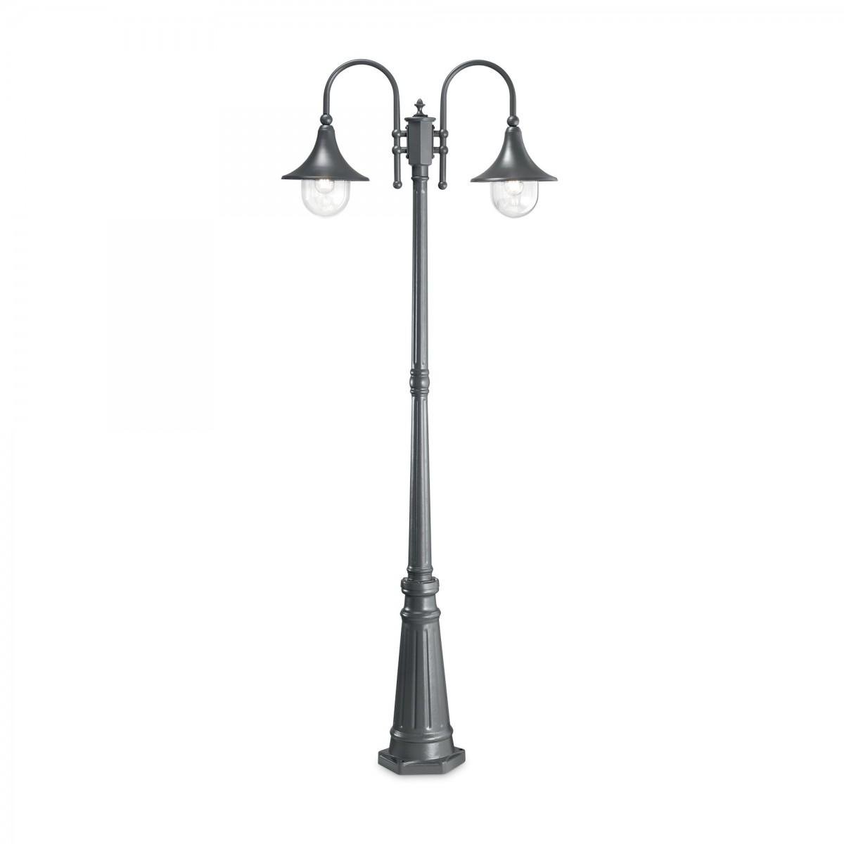 Ideal Lux 246833 venkovní stojanové svítidlo Cima 2x60W   E27   IP43 - antracit