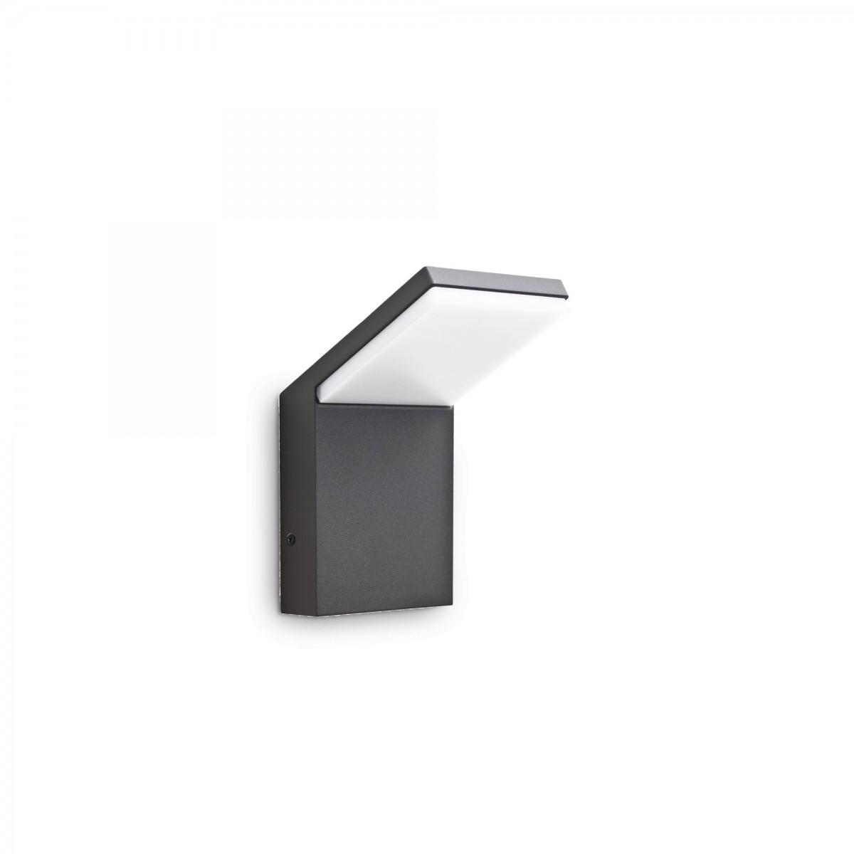 Ideal Lux 246857 LED zahradní nástěnná lampa Style 1x9W | 3000K | IP54 - antracit Ideal Lux 246857