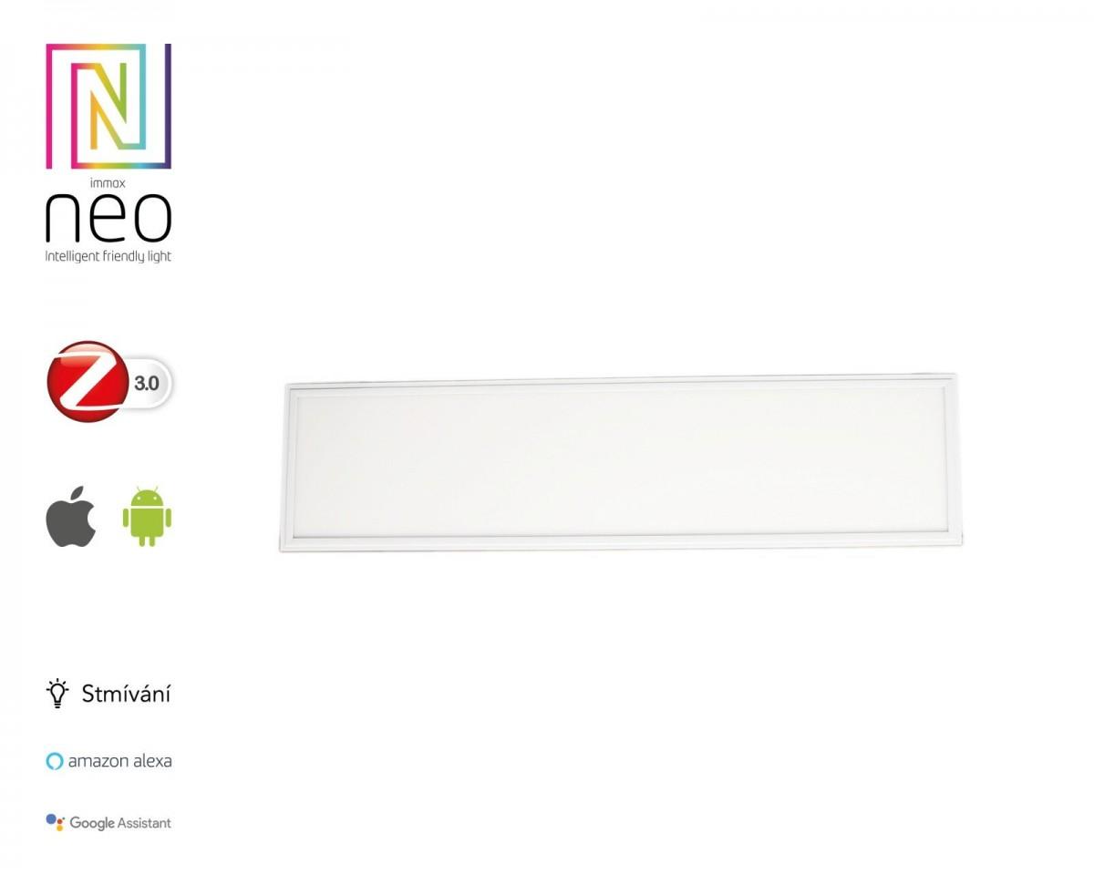 "Immax NEO""TABLON"" 07014KD Smart LED panel 300x1200mm 38W Zigbee Dim stříbrná"