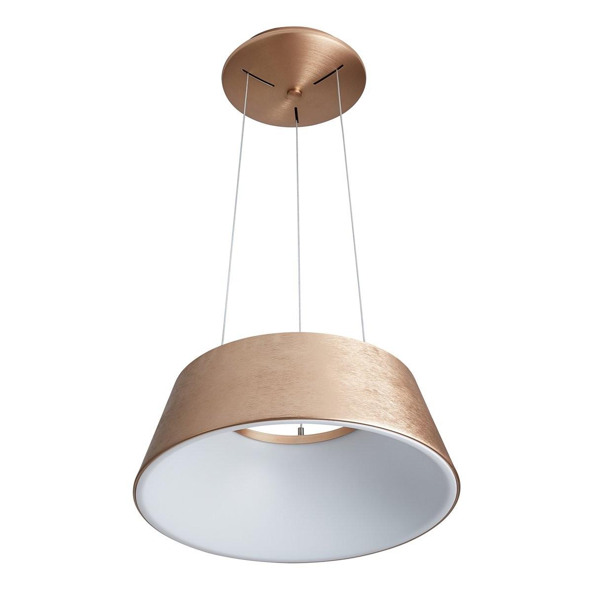 Italux 5356-840RP-GB-3 LED závěsné stropní svítidlo Lunga1x40W | 2200lm | 3000K - zlatohnědá, bílá