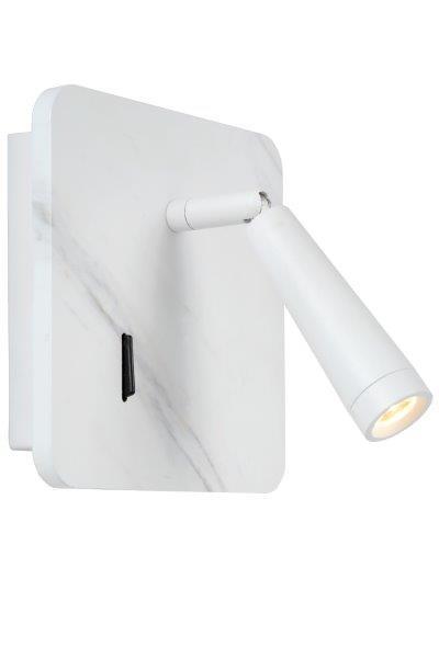 Lucide 77282/03/31 LED nástěnná lampička Oregon 1x3W | 3000K - s vypínačem