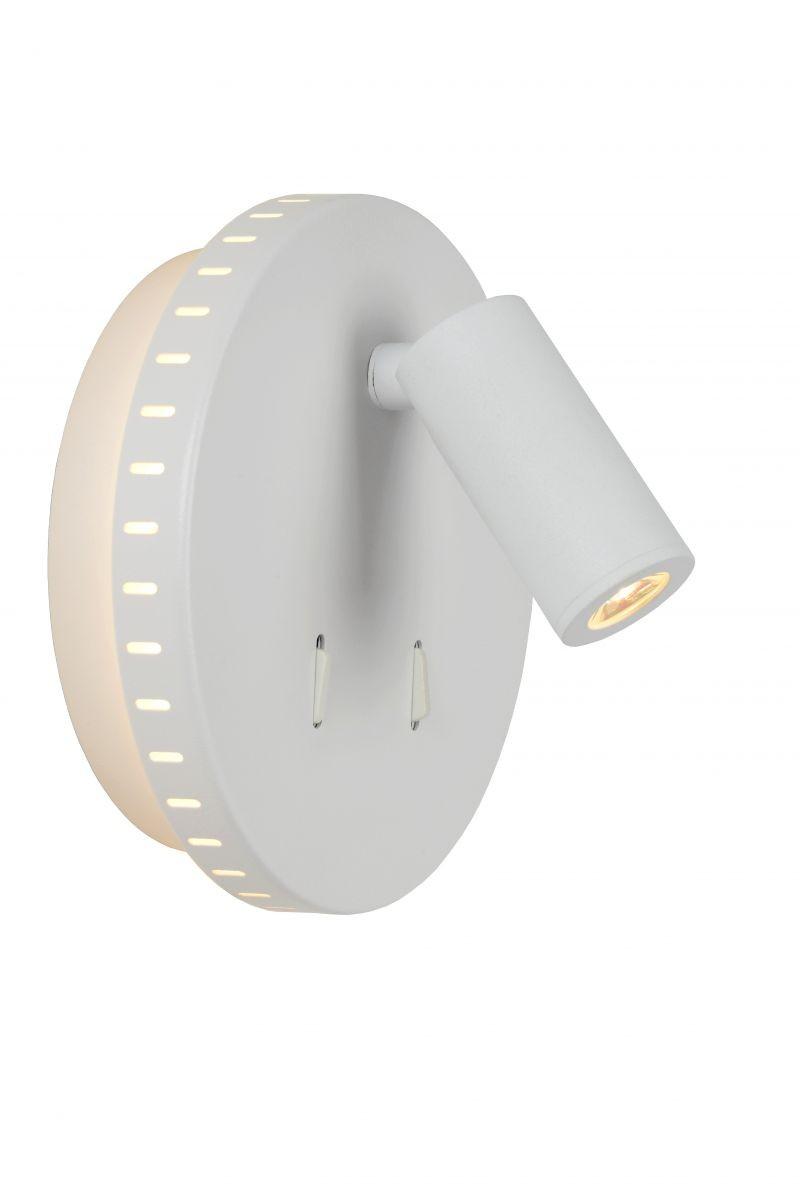 Lucide 79201/09/31 LED nástěnná lampička Bentjer 1x6W+1x3W | 3000K - s vypínačem