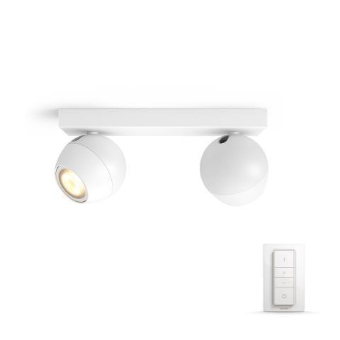 Philips Hue 50472/31/P7 LED stropní svítidlo Buckram 2x5,5W GU10 - White Ambiance