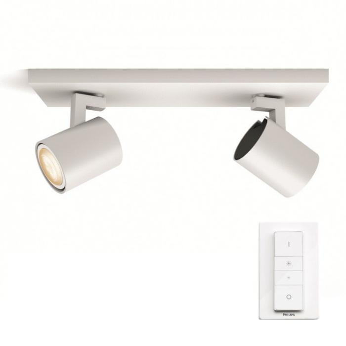LED nástěnné svítidlo bodové Philips HUE RUNNER 2 - bílá s dálkovým ovladačem - Philips 53092/31/P7