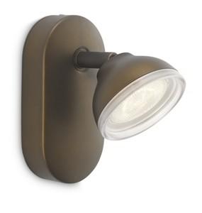 LED přisazené nástěnné a stropní svítidlo bodové lampa Philips TOSCANE 53240/06/16 - hnědá