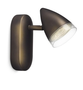 LED přisazené nástěnné a stropní svítidlo bodové Philips MAPLE 53210/06/16 - hnědá