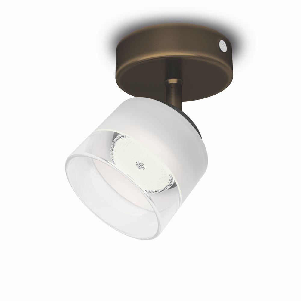 LED přisazené nástěnné a stropní svítidlo bodové Philips FREMONT 53330/06/16 - bronz