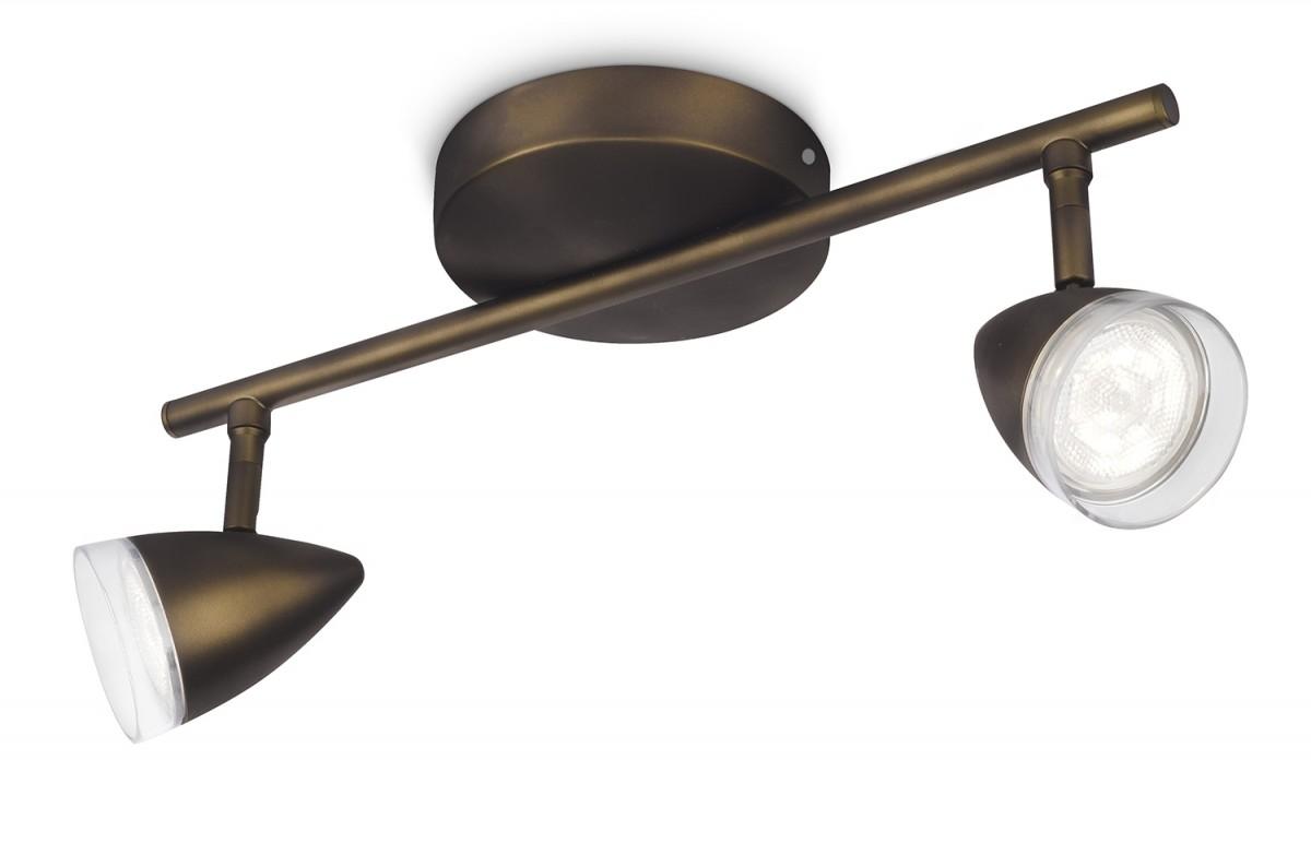 LED přisazené stropní svítidlo bodové Philips MAPLE 53212/06/16 - bronz