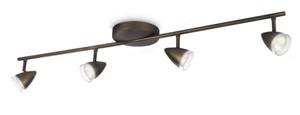 LED přisazené stropní svítidlo bodové Philips MAPLE 53214/06/16 - hnědá