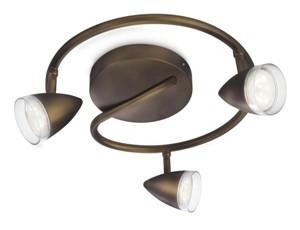 LED přisazené stropní svítidlo bodové Philips MAPLE 53219/06/16 - hnědá