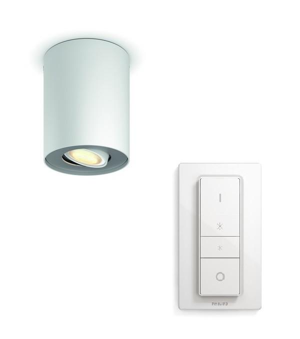 LED přisazené stropní svítidlo bodové Philips HUE PILLAR - bílá s dálkovým ovladačem - Philips 56330