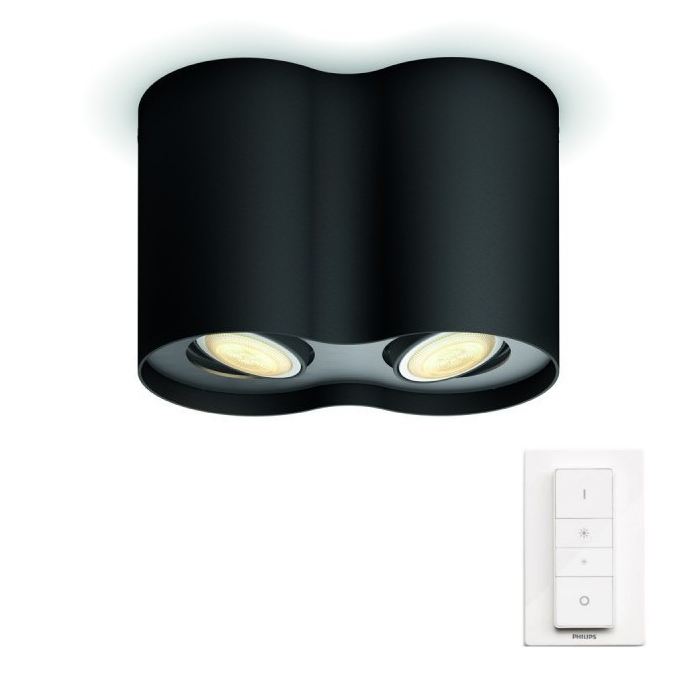 LED přisazené stropní svítidlo bodové Philips HUE PILLAR - černá s dálkovým ovladačem - Philips 5633