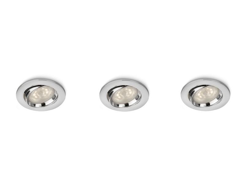 LED zápustné bodové svítidlo Philips ELLIPSE 59030/11/16 - lesklý chrom