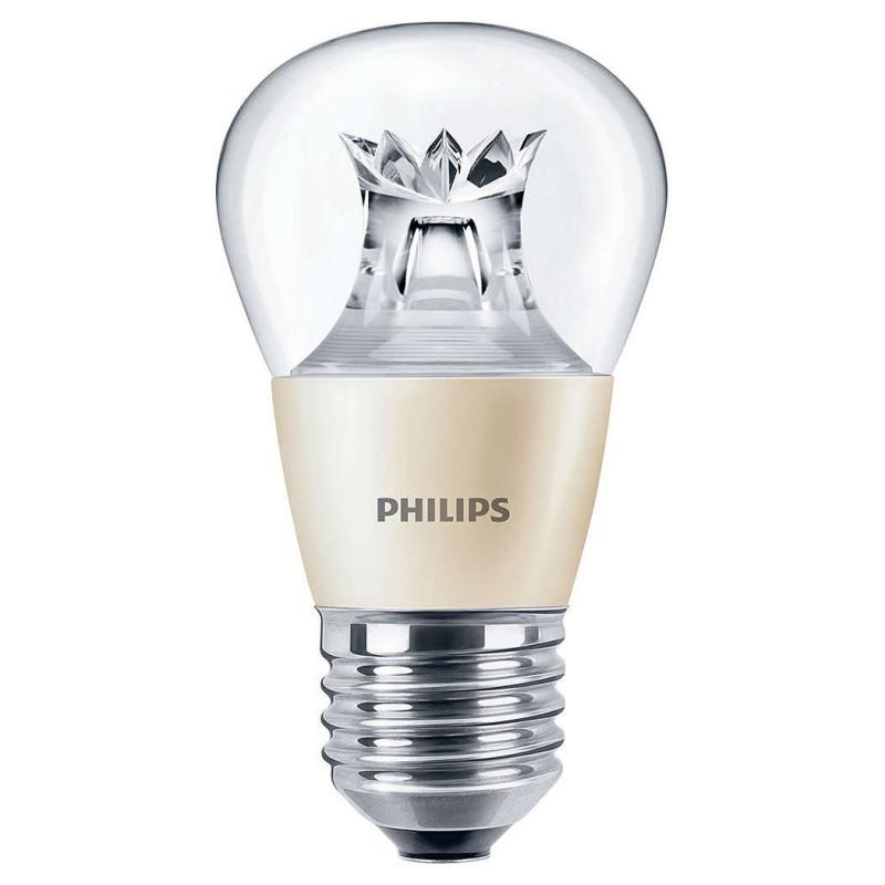 LED žárovka úsporná Philips 6W -> ekvivalent 40W E27 - MASTER LEDluster DT 6-40W E27 827 P48 CL