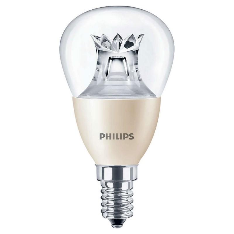 LED žárovka úsporná Philips 4W -> ekvivalent 25W E14 - MASTER LEDluster DT 4-25W E14 827 P48 CL