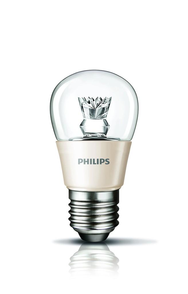 LED žárovka úsporná Philips 4W -> ekvivalent 25W E27 - MASTER LEDluster DT 4-25W E27 827 P48 CL