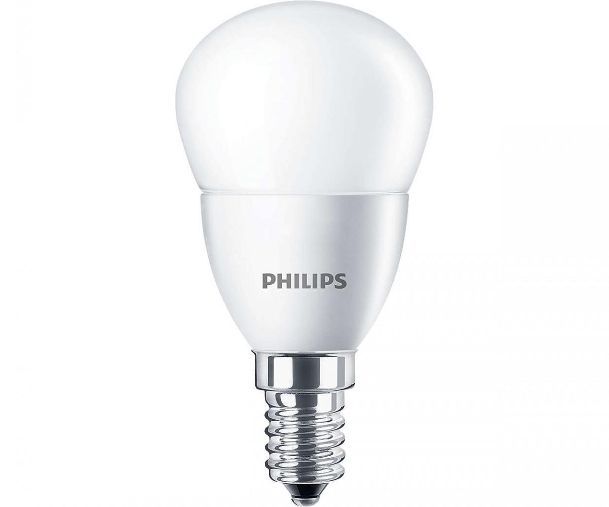 LED žárovka úsporná Philips 5,5W -> ekvivalent 40W E14 - CorePro LEDluster ND 5.5-40W E14 827 P45 FR
