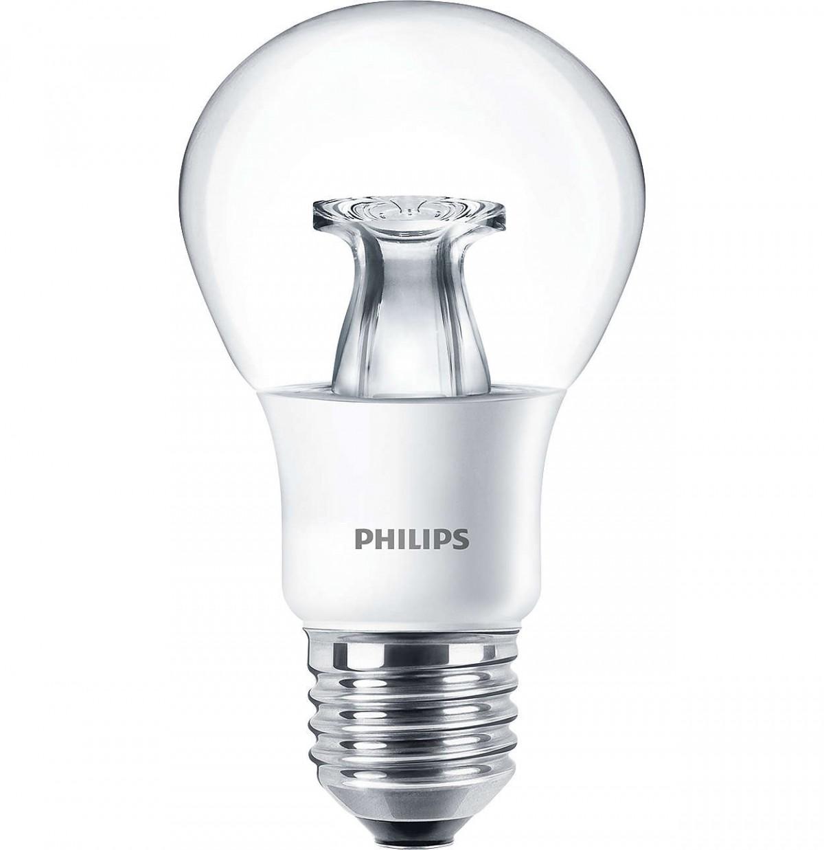 LED žárovka úsporná Philips 6W -> ekvivalent 40W E27 - MASTER LEDbulb DT 6-40W E27 A60 CL