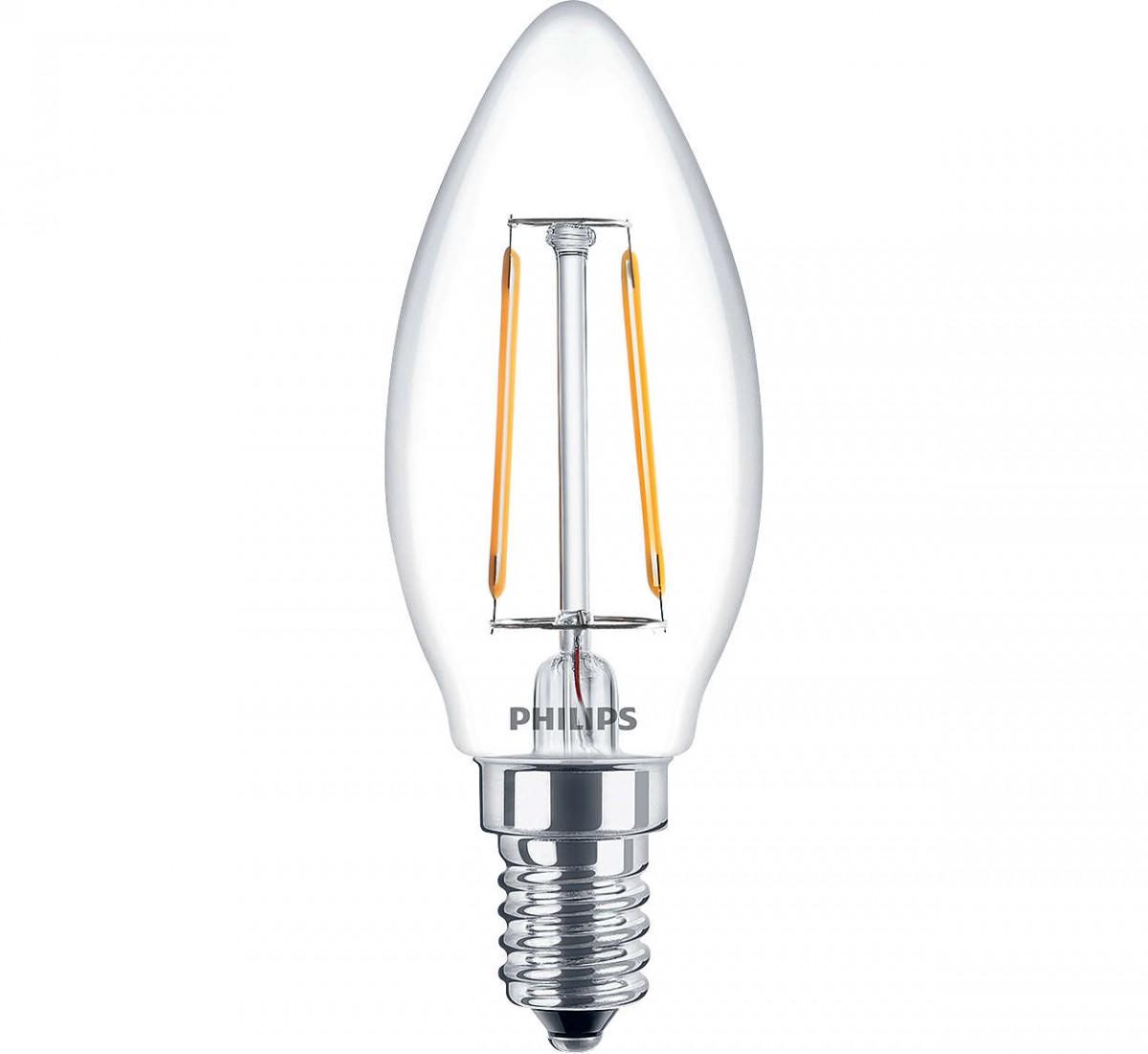 LED žárovka úsporná Philips 2,3W -> ekvivalent 25W E14 - Classic LEDcandle ND 2.3-25W E14 827 B35 CL