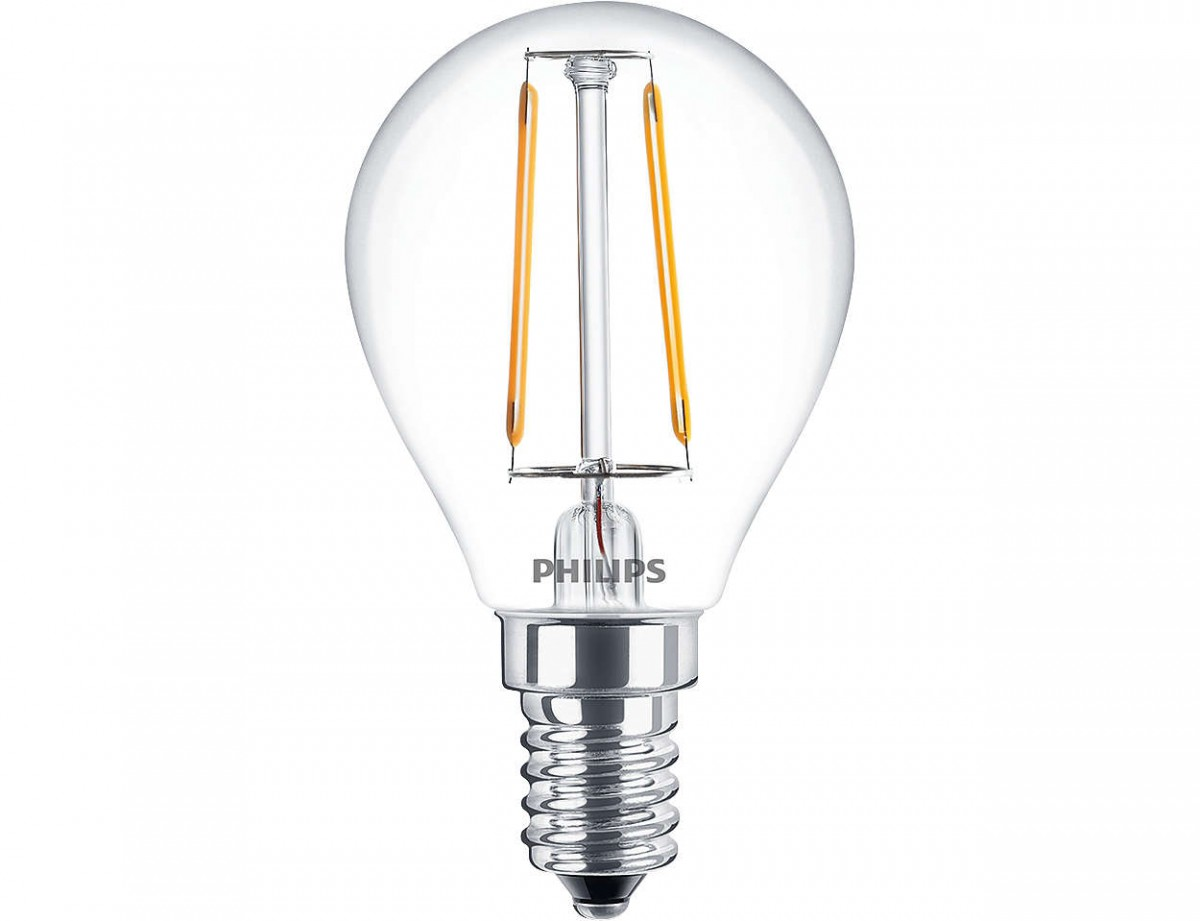 LED žárovka úsporná Philips 2,3W -> ekvivalent 25W E14 - Classic LEDluster ND 2.3-25W E14 827 P45 CL