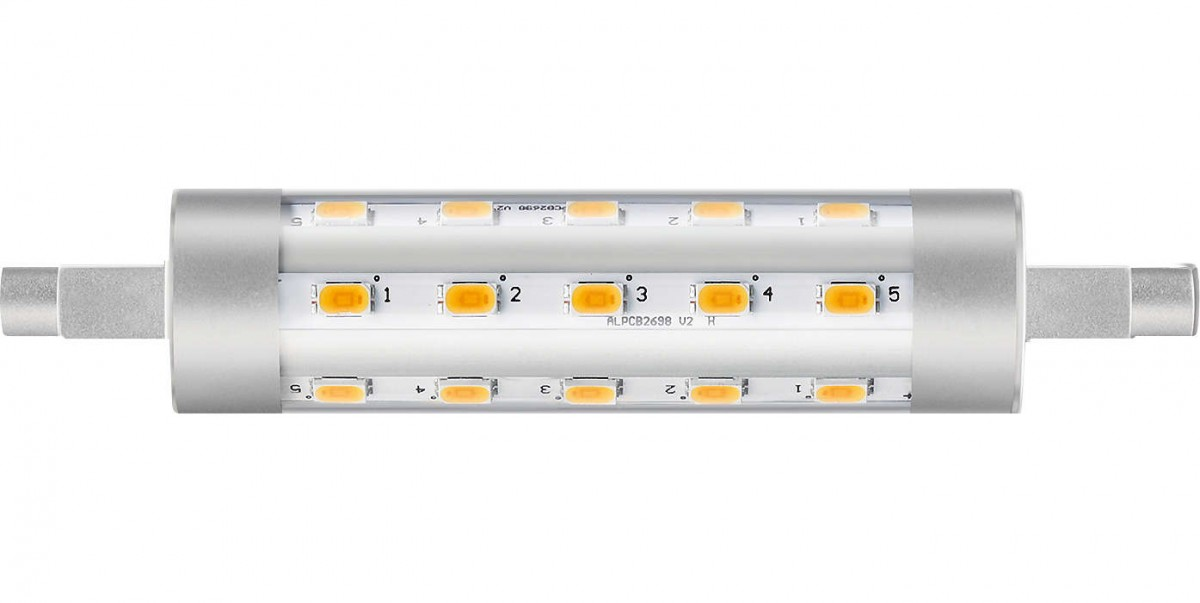 LED žárovka úsporná Philips 6,5W -> náhrada za 60W R7S - CorePro R7S 117mm 6,5-60W 830