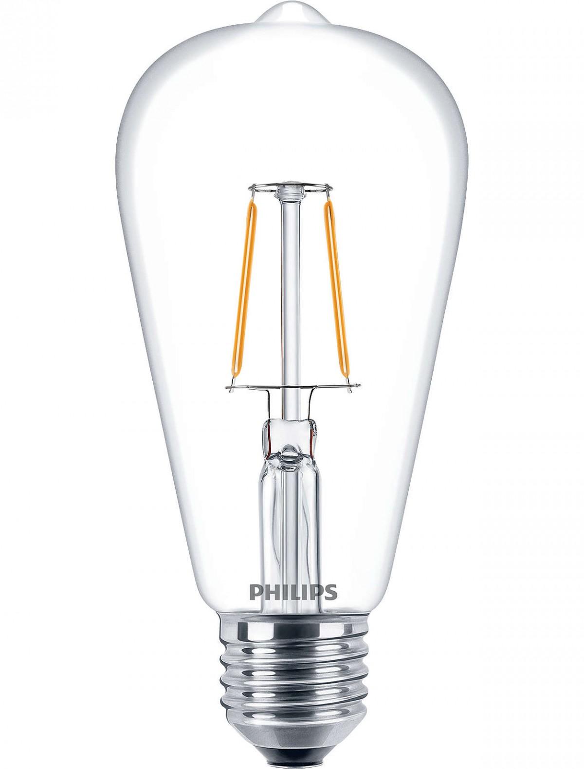 LED žárovka úsporná Philips 4,3W -> ekvivalent 40W E27 - Classic LEDbulb ND 4.3-40W E27 827 ST64 CL