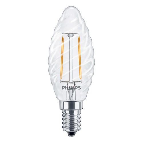 LED žárovka úsporná Philips 2,3W -> ekvivalent 25W E14 - Classic LEDcandle ND 2.3-25W E14 827 ST35 CL