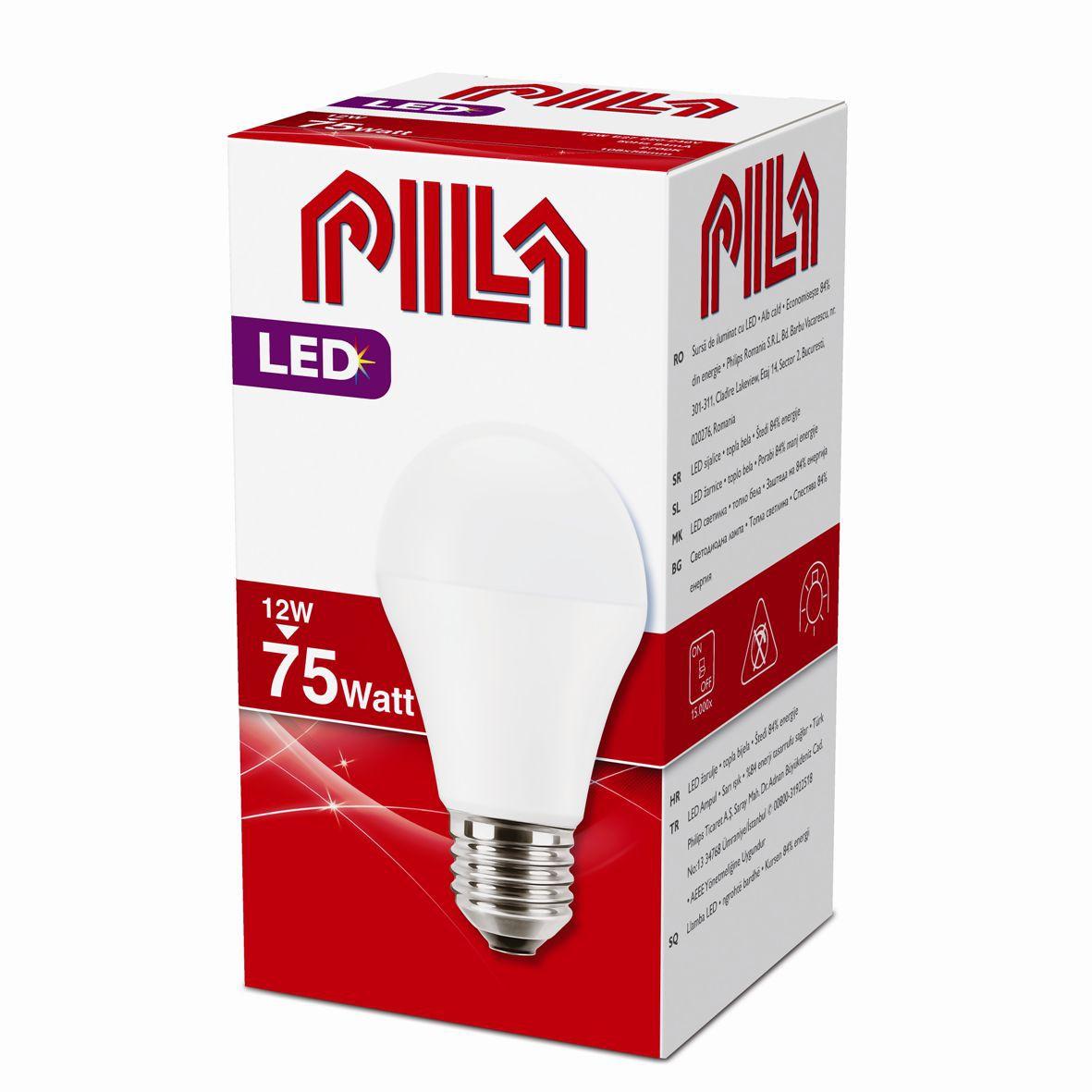 Philips Pila LED žárovka 12W 75W E27 teplá bílá FR 150°