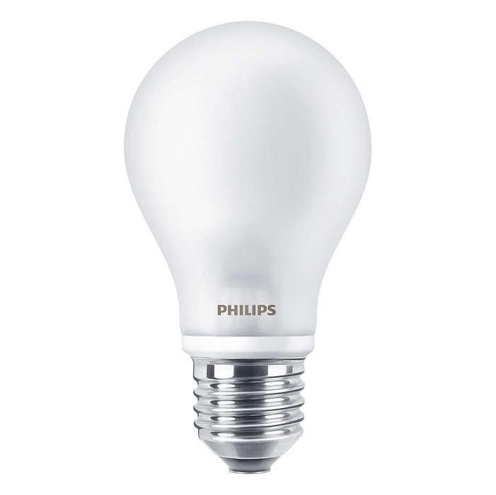 LED žárovka úsporná Philips 8W -> nahrazuje 60W E27 - LED Classic 60W E27 827 FR D
