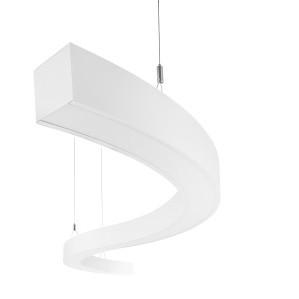 LED závěsné stropní svítidlo - lustr Ledko LEDKO/00401 - alu profil v RAL, PMA opál