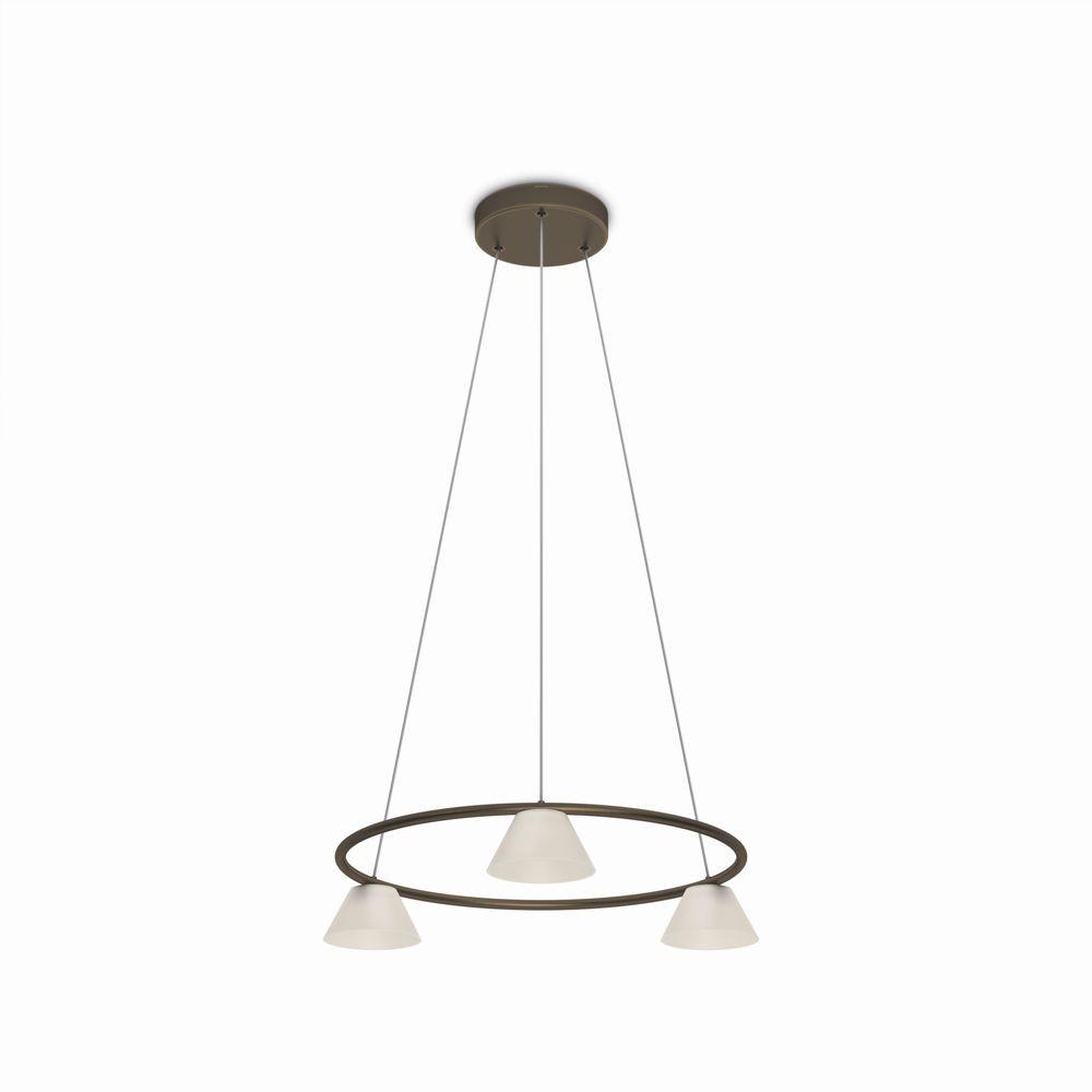 LED závěsné stropní svítidlo - lustr Philips VENDEE 36037/06/16 - bronzová