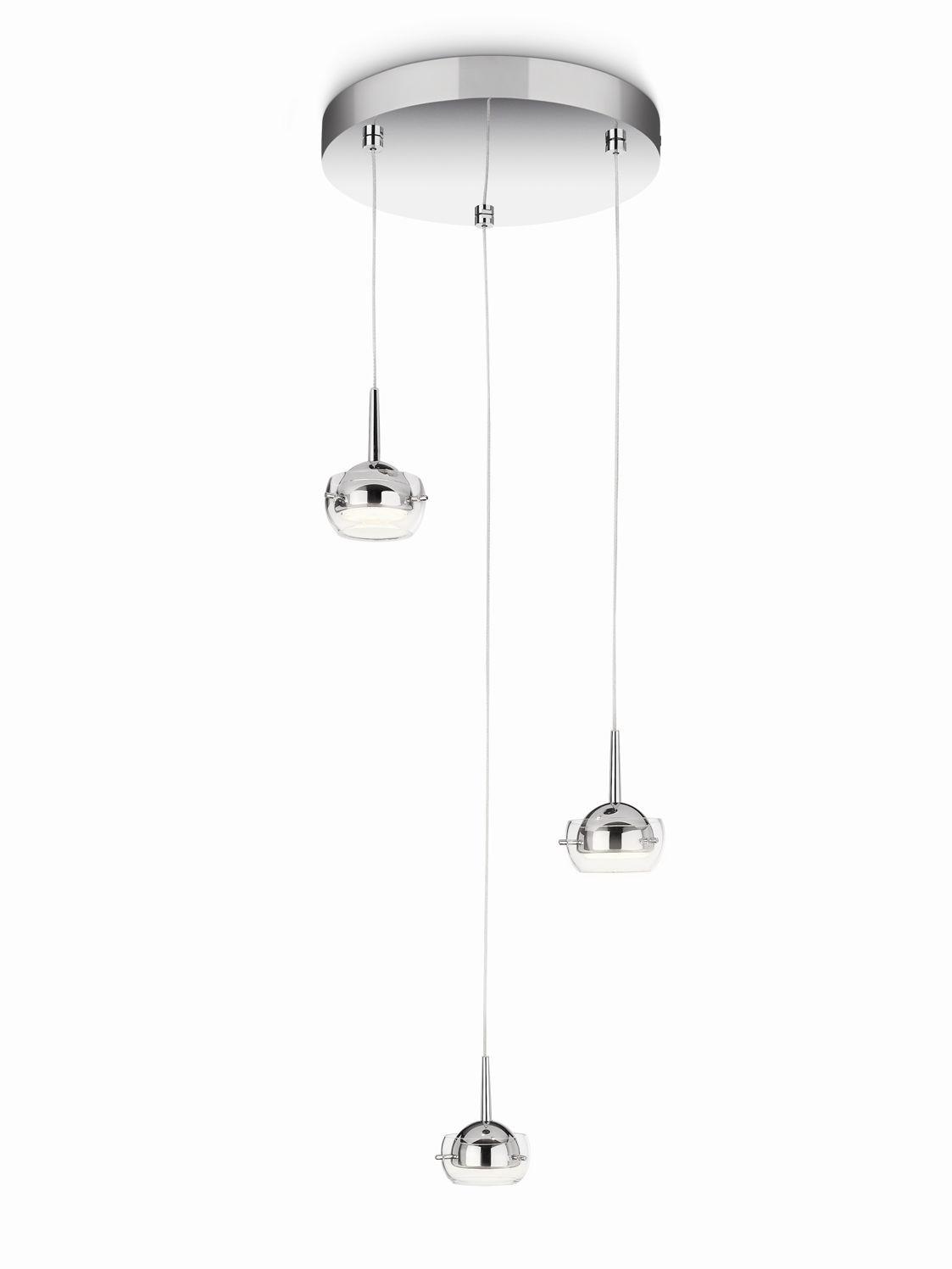 LED závěsné stropní svítidlo - lustr Philips CYPRESS 53223/11/16 - lesklý chrom