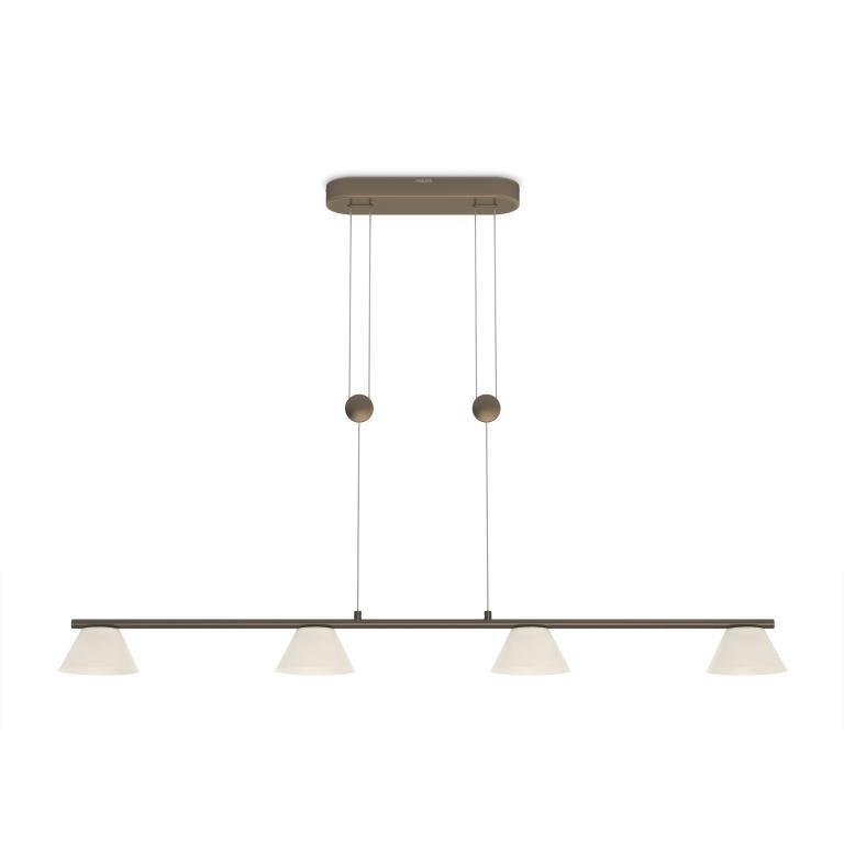 LED závěsné svítidlo - lustr Philips VENDEE 36027/06/16 - bronz
