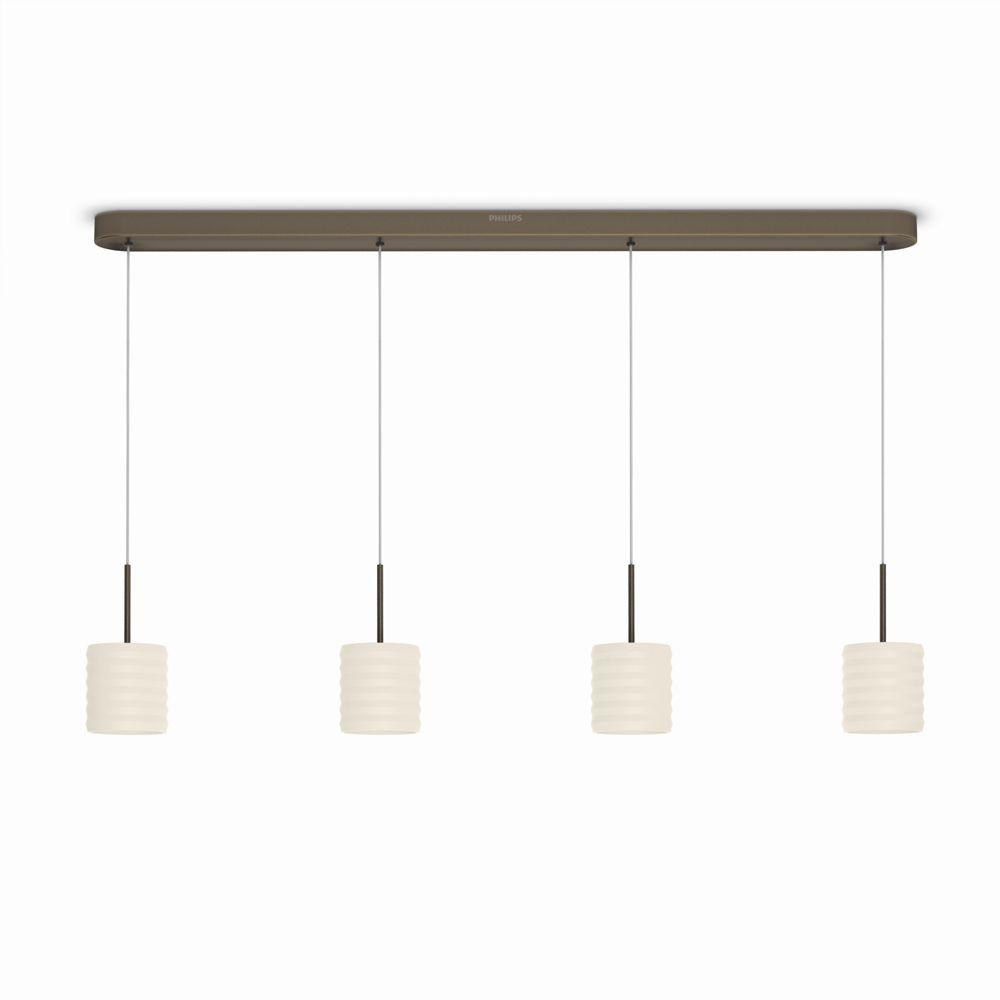 LED závěsné svítidlo - lustr Philips ORTEGA 37307/06/16 - bronz